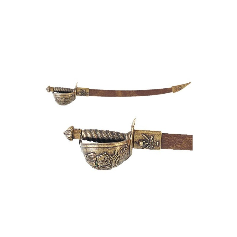 Letter Opener Pirate Sabre With Scabbard (28cm)