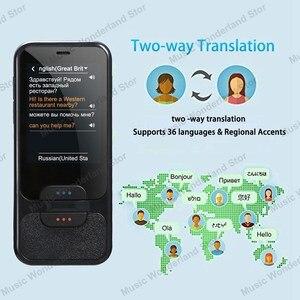 Image 5 - Dokunmatik ekran akıllı dil çevirmeni 2.4 inç WiFi taşınabilir ses fotoğraf çeviri çoklu dil çevirmen Mic hoparlör