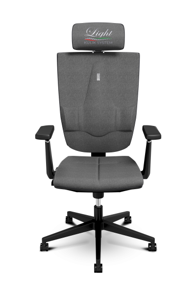 Office Chair KULIK SYSTEM SPACE Gray Computer Chair Relief And Comfort For The Back 5 Zones Control Spine