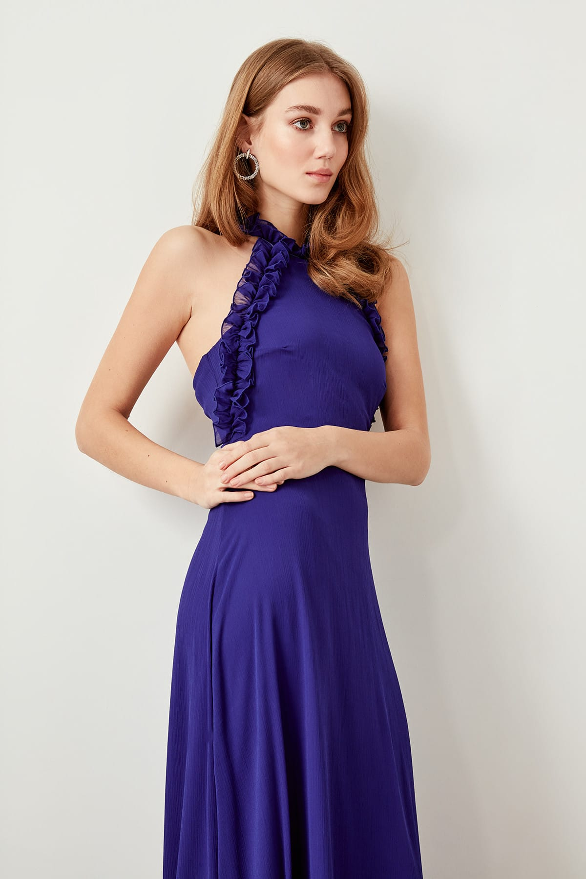 Trendyol Ruffle Detail Evening Dress TPRSS19FZ0171
