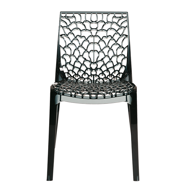 Chair WHIM Gray Polycarbonate Transparent *