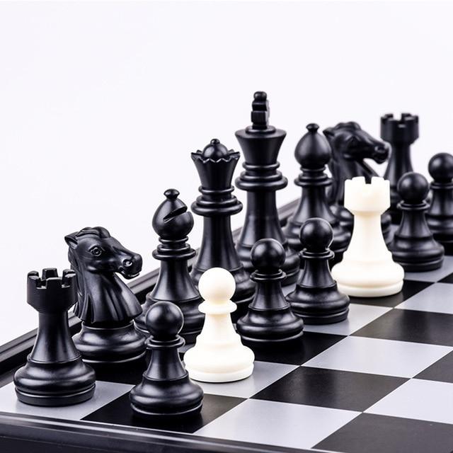 Jeu d'échecs Backgammon et jeu de dames pliable. Jeu de société 3-en-1 Portable 2