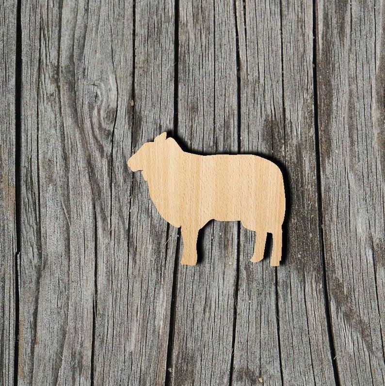 Sheep - Multiple Sizes - Laser Cut Unfinished Wood Cutout Shapes