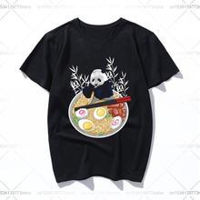 Ramen одежда в виде панды футболка с принтом Футболки коротким