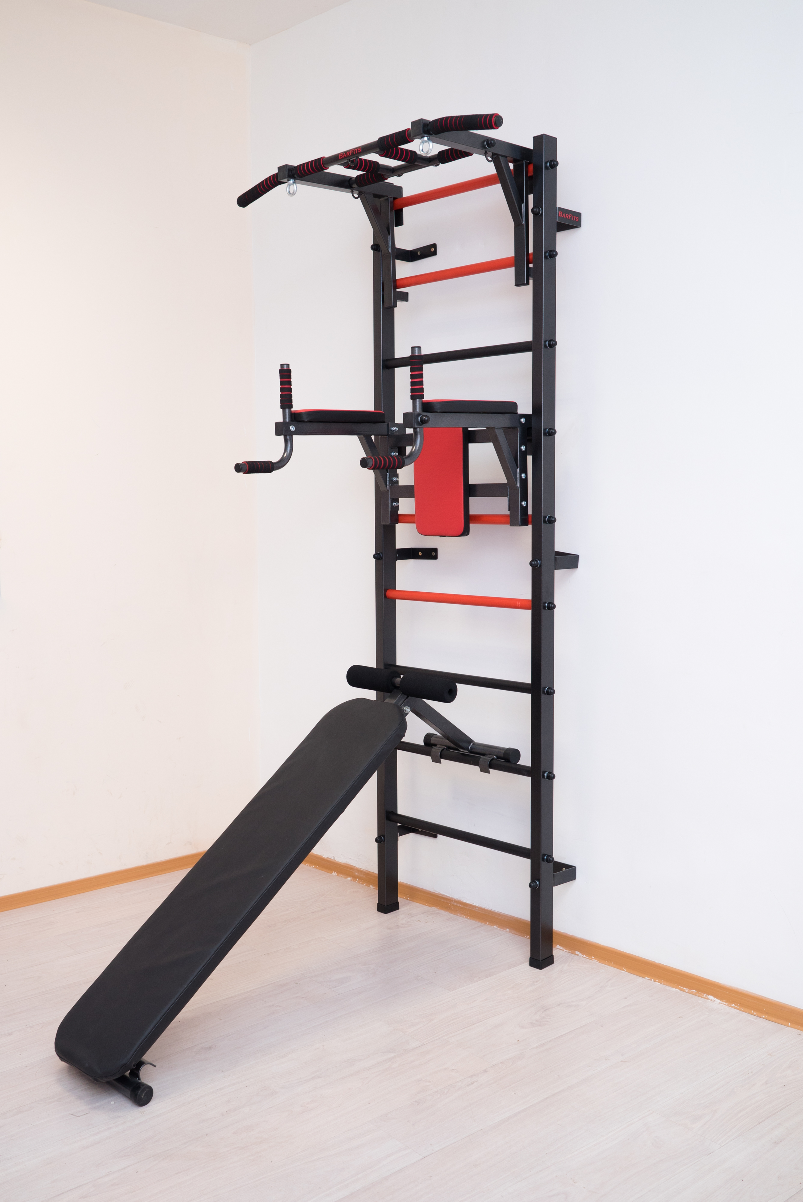 Swedish Wall With Turnstile, Bars, Bench For Press And Press