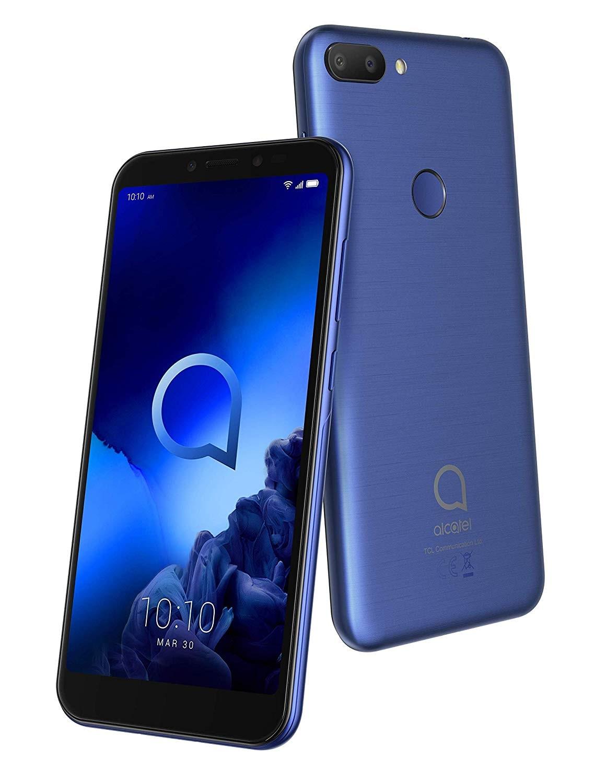 Téléphone Alcatel 1S (5024F), couleur bleue (bleu), double SIM, ROM 64 go, RAM 4 go, 5,5 ', lampe de poche LED Camara