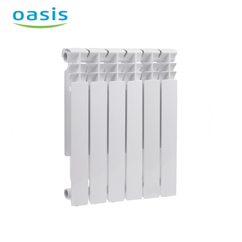 004 Bimetal Radiator Oasis 500/80/6 Electric heater air heater heating elements household radiator home energy saving 220v household electric heater rotatable energy saving head shaking heater fast heating 3 gear control electric heater eu au uk