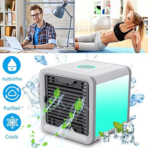 Charge Cooler Air's Kool Breeze Technology From The Hydrolyzation Conditioner Air Frigid Featuring Light Led 7 Colors 3 Tiers High Speed