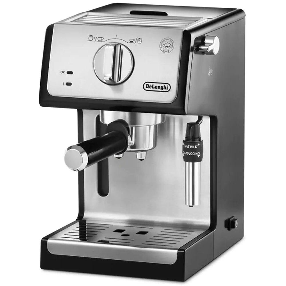 ¿Delonghi ECP 3531 Espresso y máquina de capuchino? Expresso de café, máquina de café espresso cocina inox automática de la taza Manguera de 4 vías de 1
