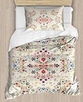 Else Beige Ottoman Vintage Ethnic Design 4 Piece 3D Print Cotton Satin Single Duvet Cover Bedding Set Pillow Case Bed Sheet|Duvet Cover| |  -