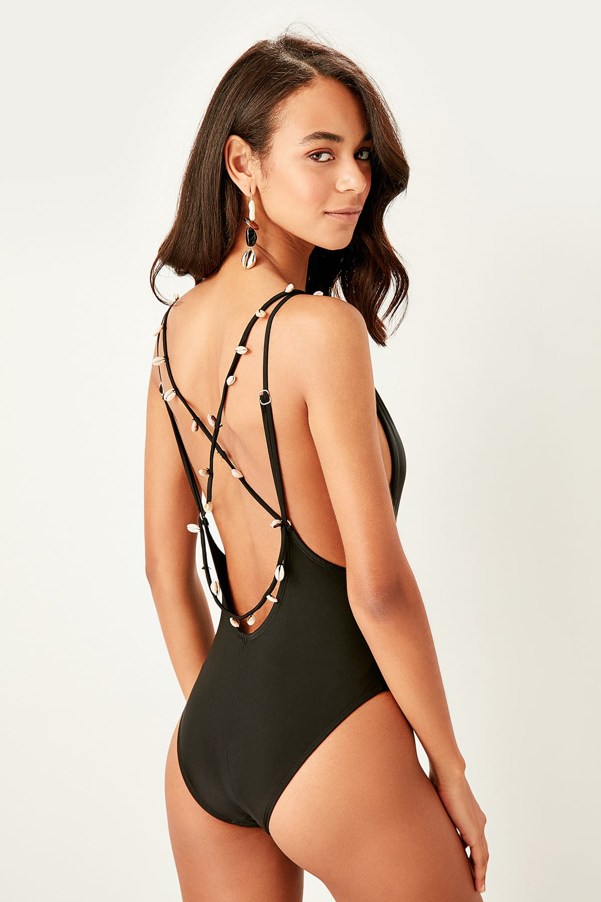 Trendyol Back Detailed Swimsuit TBESS19WC0014