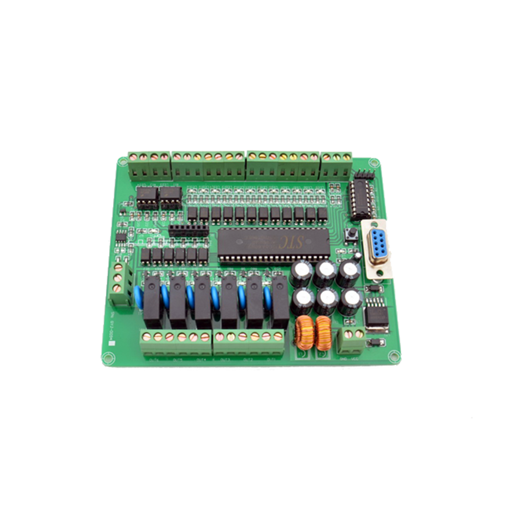 Taidacent 16 Input 6 Output 12v/24v Photo Isolation Relay 232 And 485 Communication STC12C5A60S2 MCU Programming Control Board