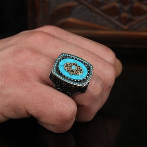 Мужское кольцо из стерлингового серебра 925 пробы, настоящее ювелирное изделие из камня, модный винтажный подарок, все размеры, мода для мужч...