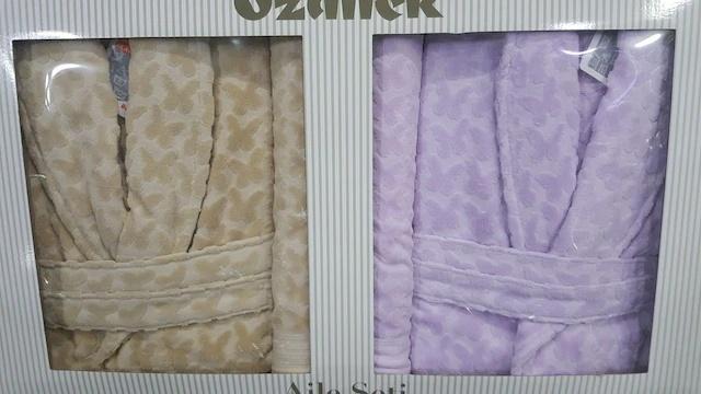 Özdilek szczęśliwy Arella beżowy liliowy zestaw ubrań dla rodziny zestaw szaty Özdilek 247872371 tanie i dobre opinie
