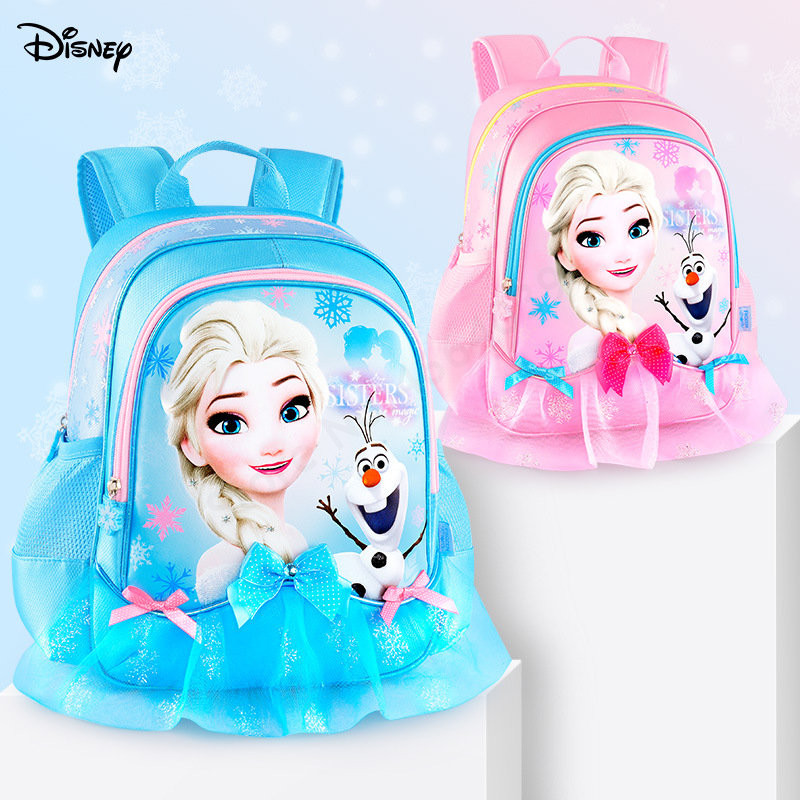 Disney Frozen Elsa Waterproof 2020 New School Book Backpack Cartoon Kids Primary Girls Kindergarten Bag 3-5 Years Old