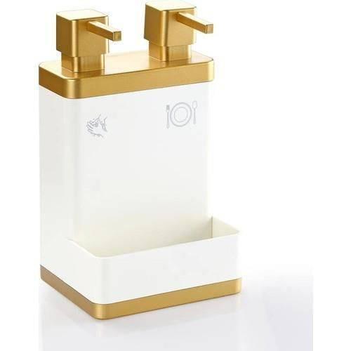 Acrylic Dispenser Kitchen Bathroom Liquid Soap Dispenser Organizer White Gold Accessories Set Two Hood Home Apparel Women Men Family Kitchen fixture Bathroom Equipment  container glass soap in the kitchen
