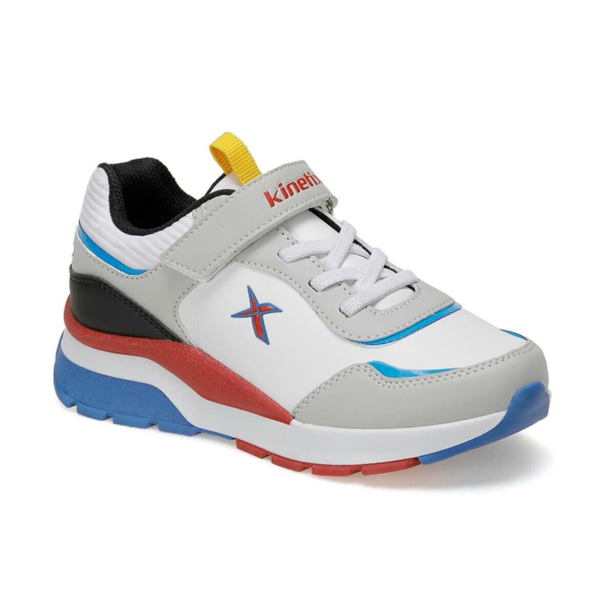 FLO BRIGHT 9PR White Male Child Sneaker Shoes KINETIX