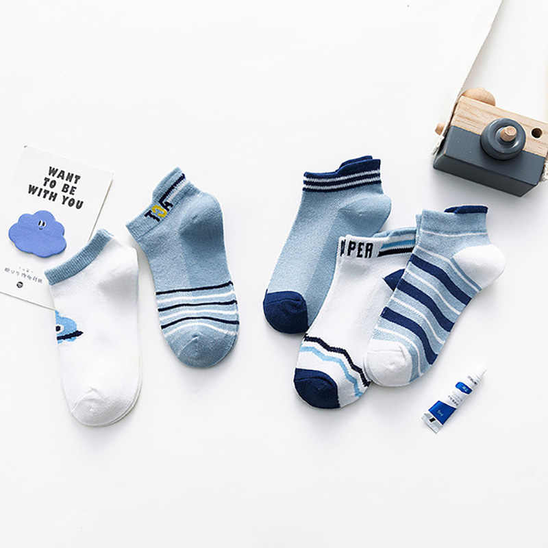 Spring And Summer New Cute Mesh Ship Cat Anchor Ship Socks Children Socks Cartoon Socks