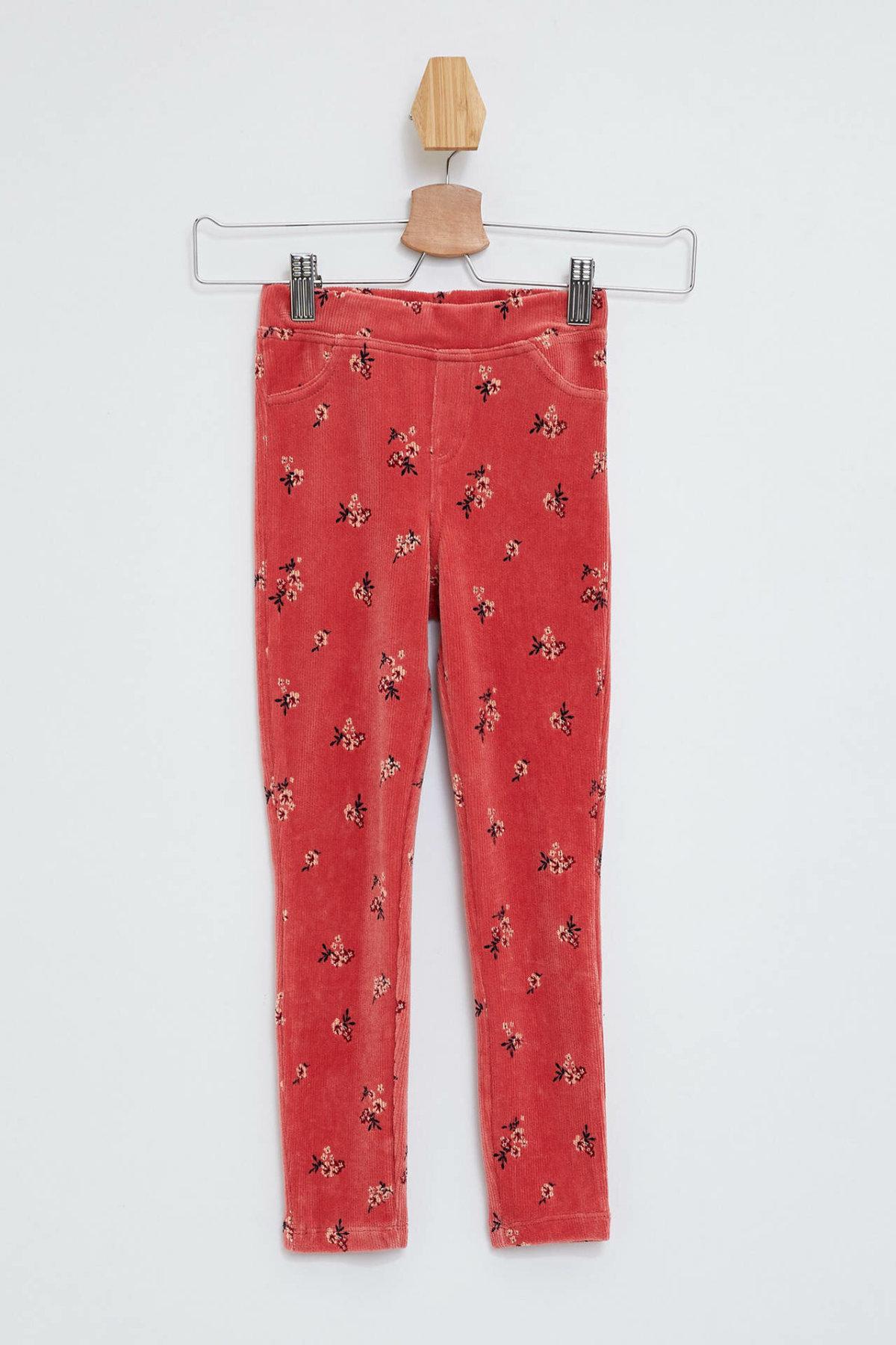 DeFacto Fashion Girl Leggings Cotton Print Pattern Comfort Pants Kids Casual Elastic Waist Skinny Sportpant Girls-L7931A619AU