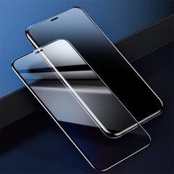 Baseus 0.23mm iphone 11pro 용 전체 화면 보호기 max ultra thin full coverage iphone 11 유리 필름 용 곡선 강화 유리
