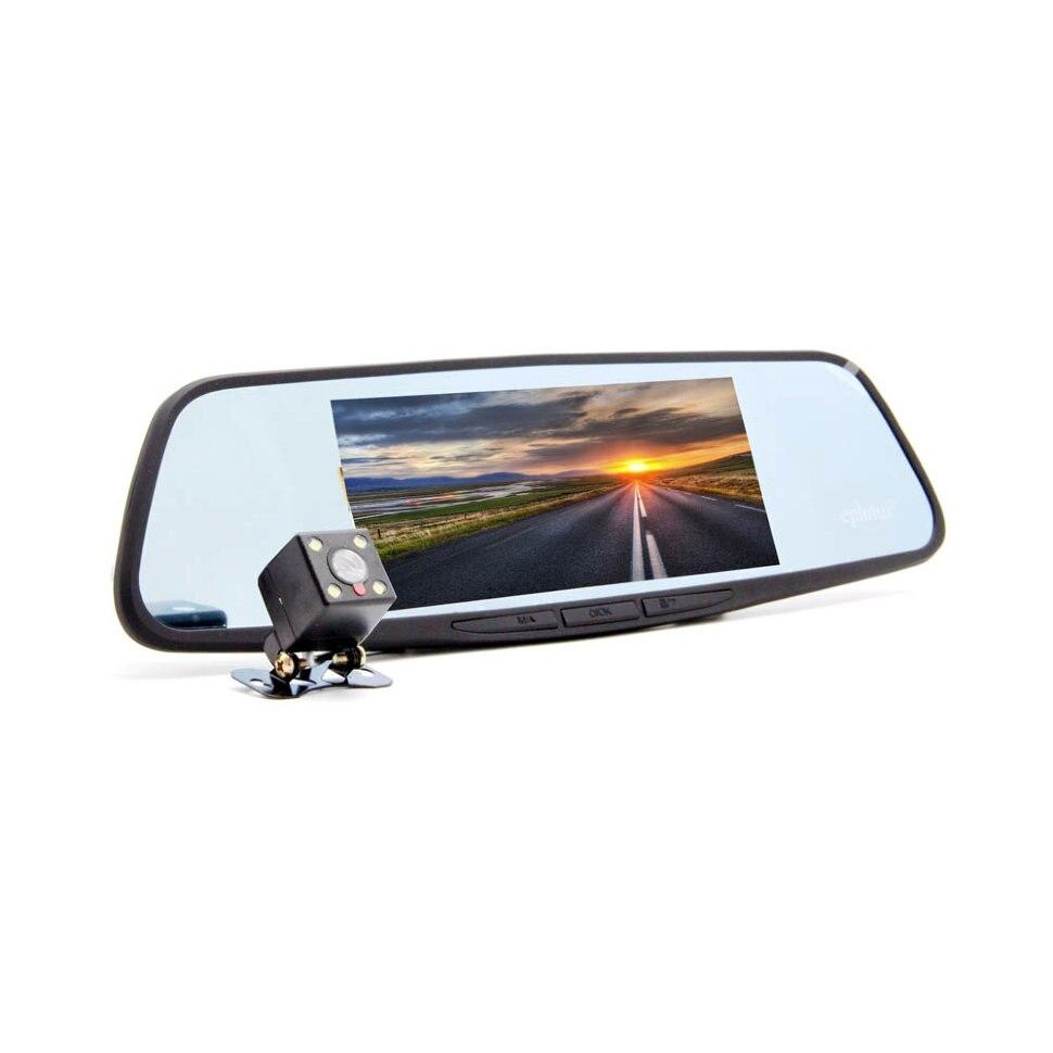 Автомобильный видеорегистратор зеркало Eplutus D69 с 2-мя камерами
