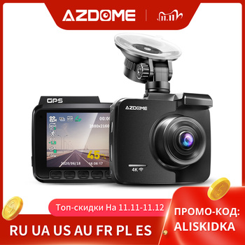 AZDOME Dash Cam 4K 2160P FHD DVR Car Driving Recorder WiFi Built in GPS Dashboard 2.4 LCD, WDR, Night Vision, Parking Monitor image