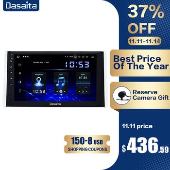 Dasaita 10.2 HD screen 1 din Android 10.0 Car Radio for Toyota RAV4 GPS 2018 2019 Navigation TDA7850 Bluetooth MAX10 image