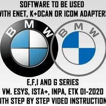 Программное обеспечение BMW для диагностики, кодирования и обслуживания. Предварительно установленная ESYS, ISTA +,INPA,ETK.VM