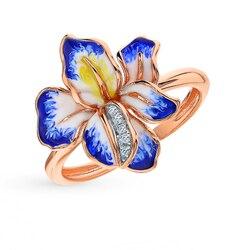 Золотое кольцо с бриллиантами SUNLIGHT проба 585
