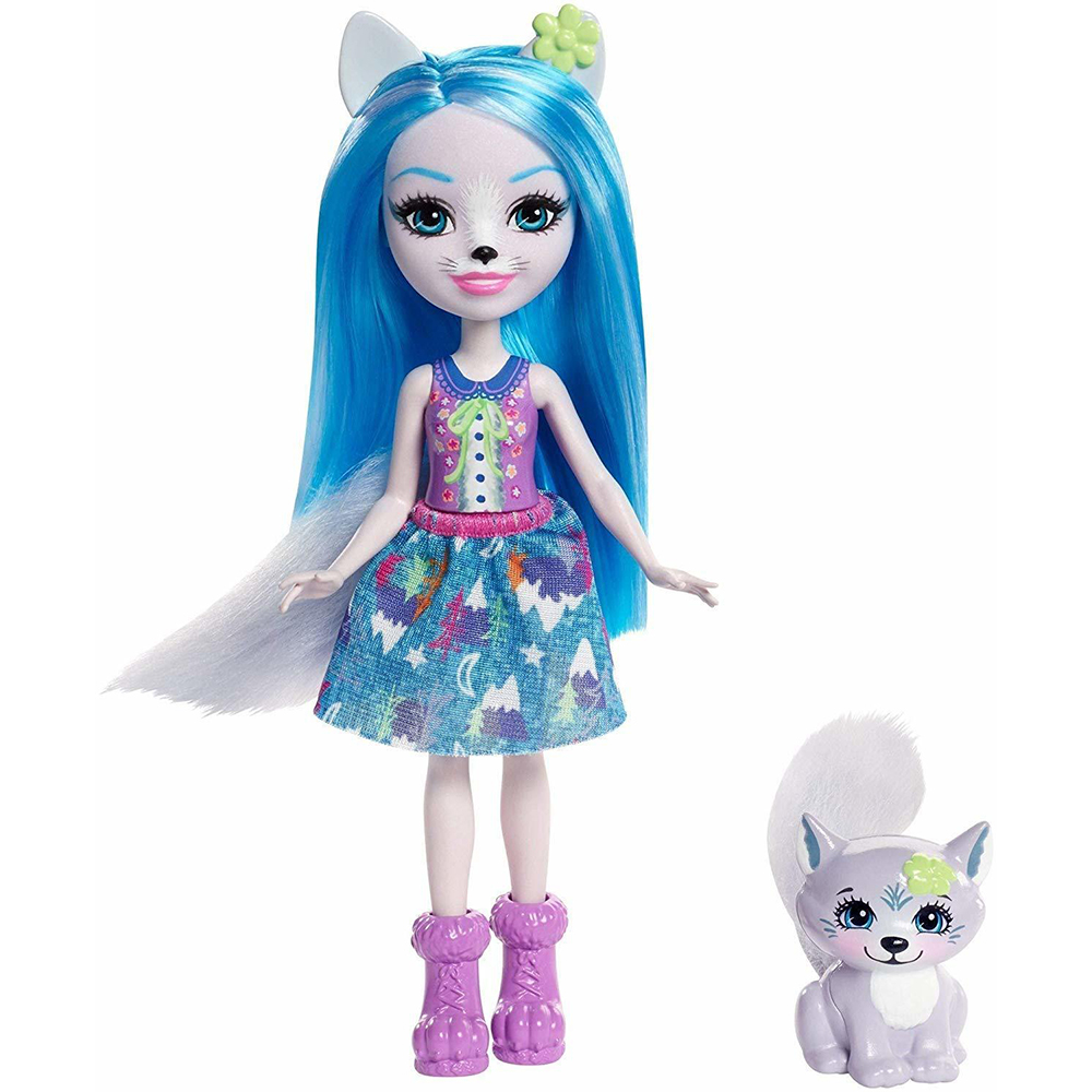 Doll Enchantimals Винсли Wolf With Favorite зверюшкой