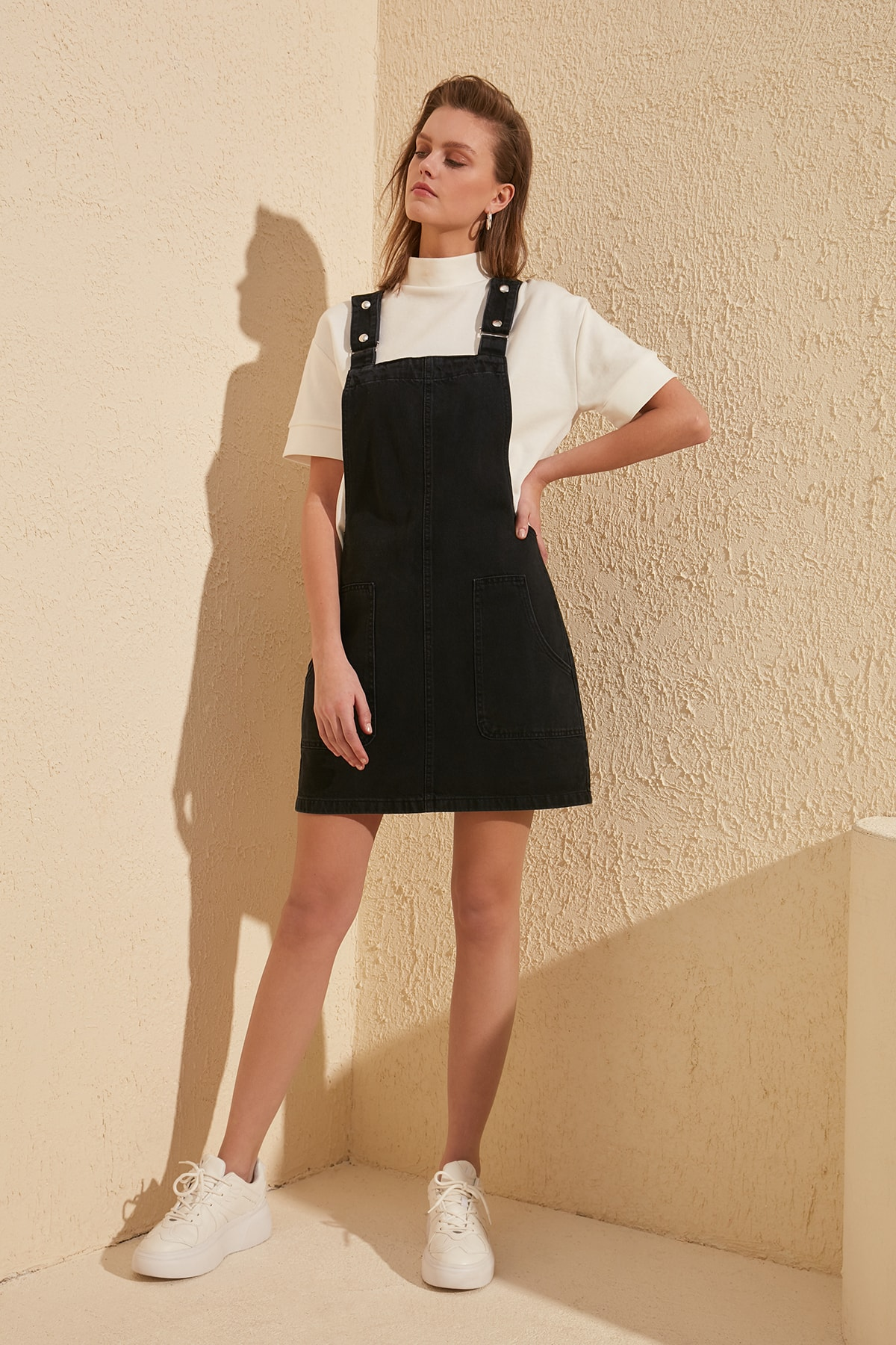 Trendyol Pendant Denim Dress TWOSS20EL0969
