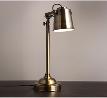 Modern Study Loft Style Bronze Metal Led Table Light Retro Adjustable Mechanical Arm Bedroom Bedside Lamp Free Shipping loft retro industrial wind led fixture american country vintage study office bedroom aisle bronze color wall lamp free shipping