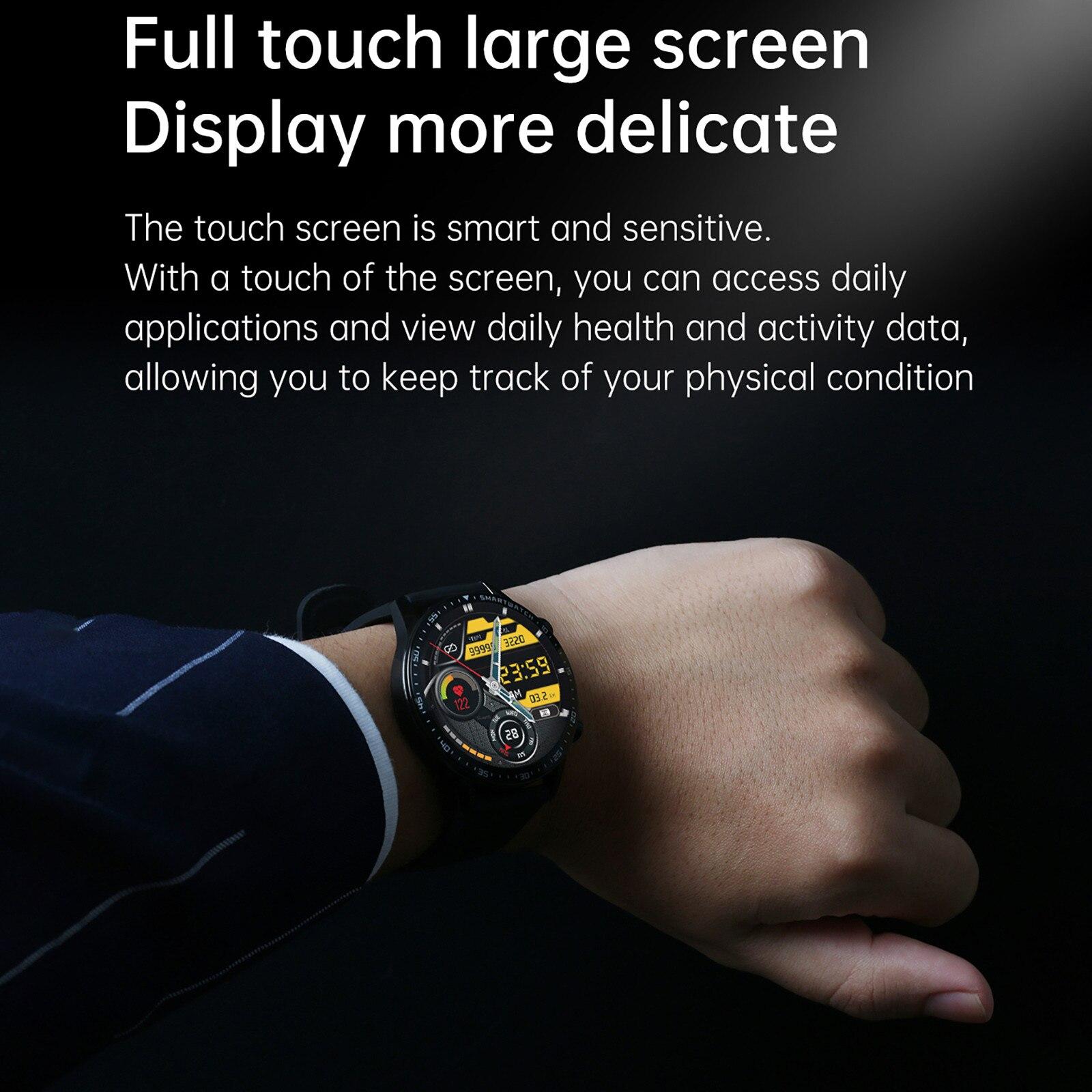 Lefit z08s relógio inteligente masculino relógios de