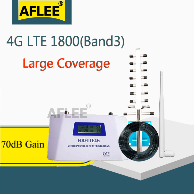 High Gain!! 4g Lte 1800 GSM Signal Repeater Cellular Signal Booster Amplifier Lte Dcs 1800mhz Mobile Cell Phone Signal Repeater