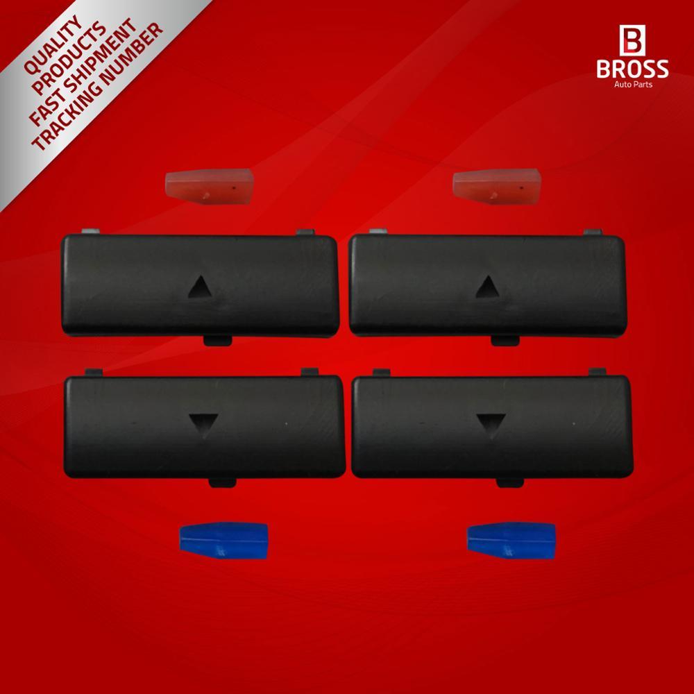 BDP88-13 4 조각 히터 기후 제어 에어컨 스위치 버튼 커버 5 시리즈 X5 E53 2000-2007 E39 1995-2003