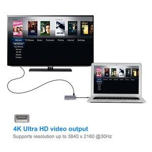 Image 5 - Feed me USB3.0 HUB USB C a HDMI RJ45 Auto Lettore di PD Adattatore per MacBook Samsung Galaxy S9/S8 huawei Mate 10 P20 Pro di Tipo C HUB
