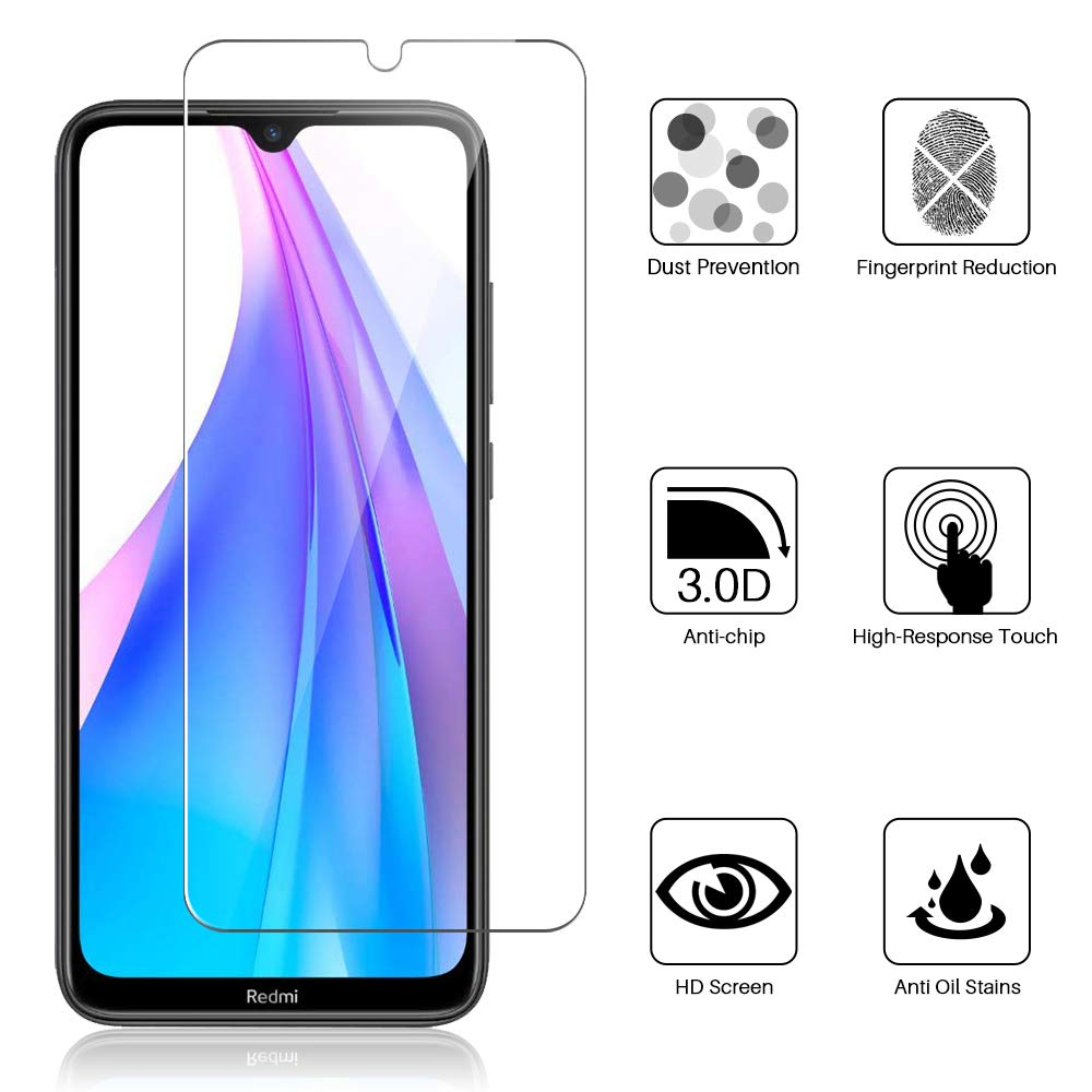 Full Tempered Glass Screen Protector for Xiaomi Redmi Note 8T Protection glass Protection for Smartphone 3