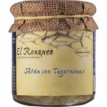 Tuna Ventresca jar with tagarnins 250 grams | Fish preserves El Ronqueo | Quality sustainable gourmet preserves