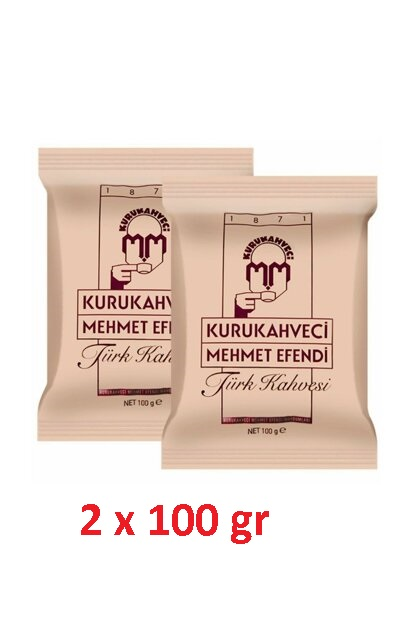 Famous Turkish Coffee,Kurukahveci Mehmet Efendi,Traditional Coffee,ground Turkish Coffee,roasted Coffee With Foam, 100 Gr Soft