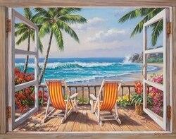 Malerei auf die zahlen von gezlong auf die strand, 40x50 cm