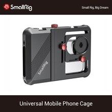 Smallrigプロユニバーサル携帯電話ケージvloggingケージとスマートフォン用の 63.5 ミリメートルに 87.5 ミリメートル範囲 2494