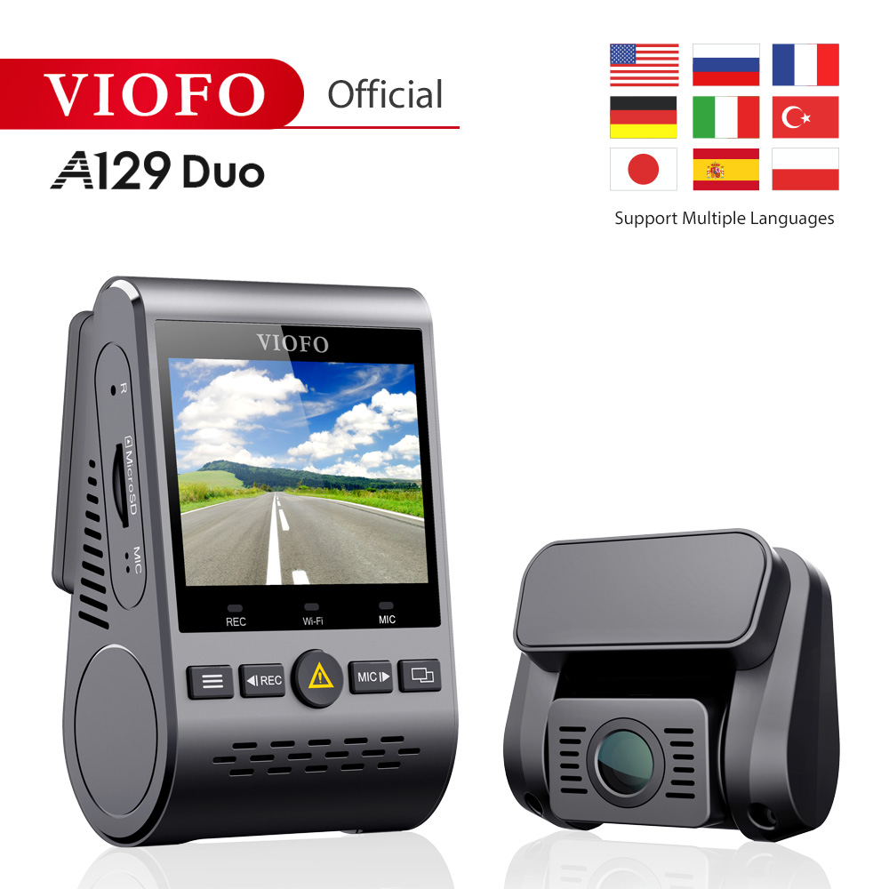 Original Viofo A129Duo Dual Channel Wi-Fi Full HD 1080P DVR Dash Cam Camera Video Recorder View Sensor IMX291 multiple languages