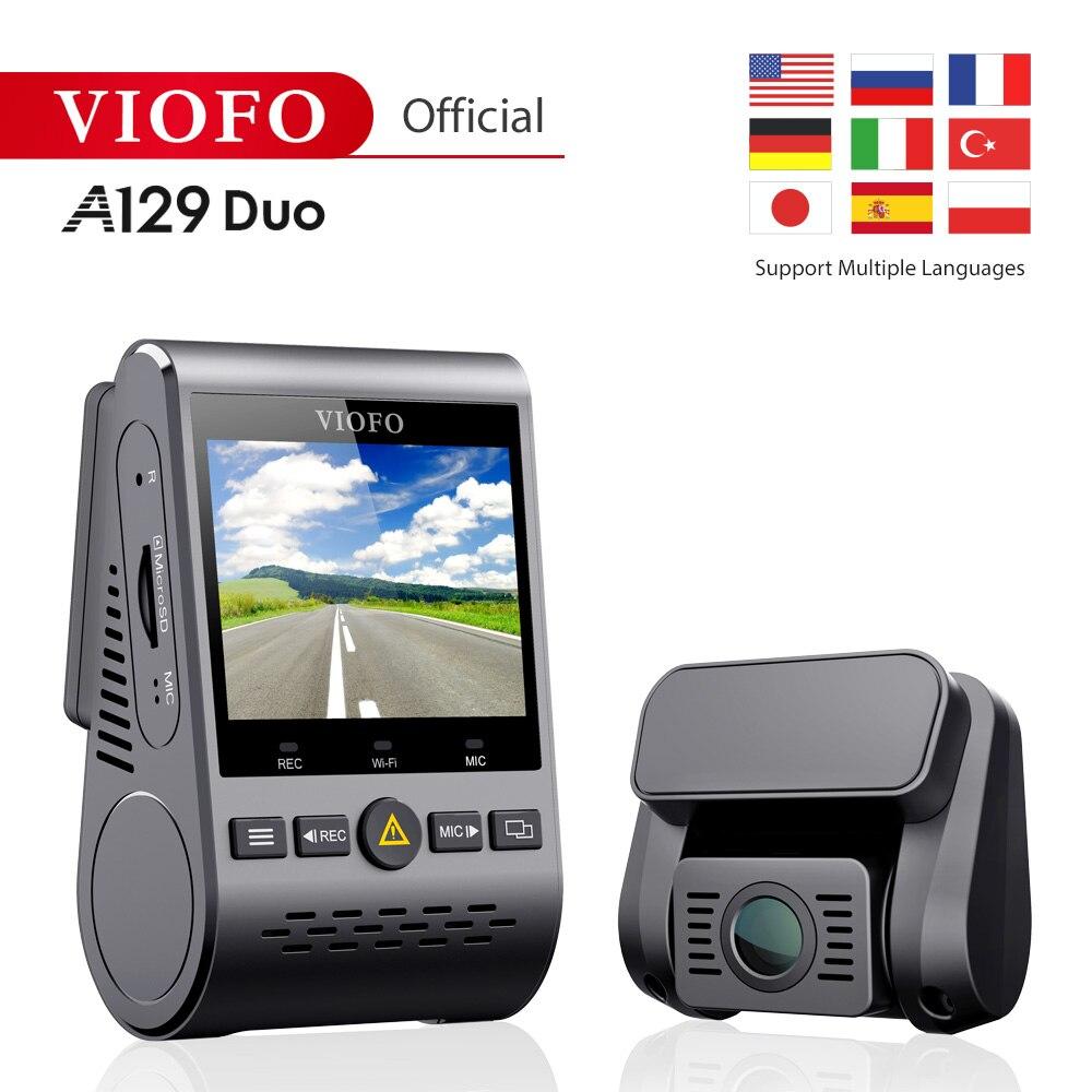 Original viofo a129duo duplo canal wi-fi completo hd 1080 p dvr frente traseira traço cam câmera gravador de vídeo ver vários idiomas