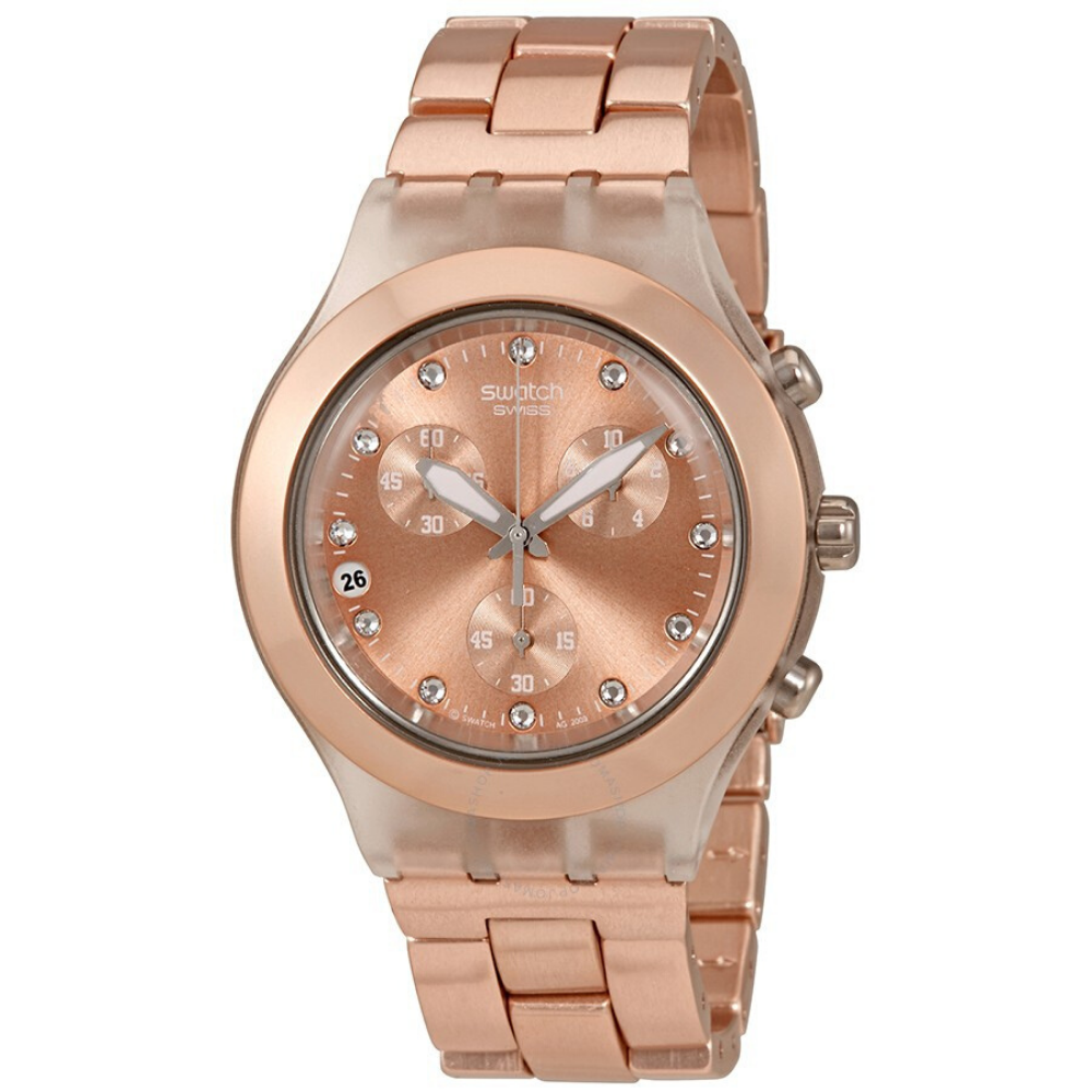 Swatch Gold Women's Watch Swiss Made High Quality Original Full-Blooded  SVCK4047AG