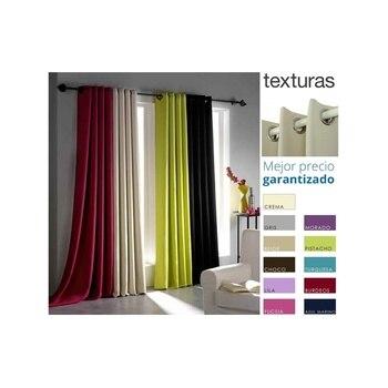 TEXTURAS HOME SECRET - Cortina con Ojales BLACKOUT Efecto FOSCURIT 260x140 cms...