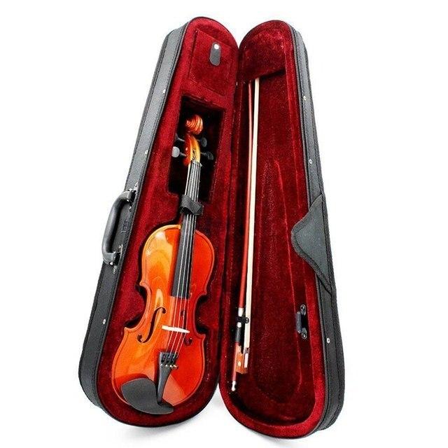 Taille 3/4 violon naturel tilleul acier chaîne tonnelle archet pour débutants violon à la main violon tilleul massif tout en touche