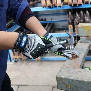 Image 4 - Перчатки с защитой от ударов, вибрационные рабочие перчатки GMG TPR, противоударные амортизирующие ударопрочные перчатки