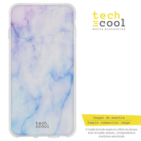 FunnyTech®Silicone Case for Samsung Galaxy S9 l blue marble texture