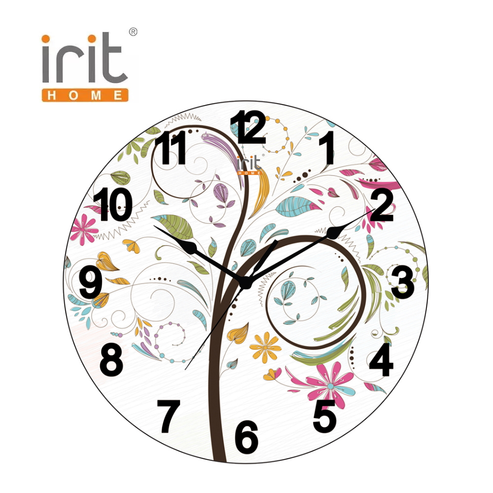 Wall Clock Irit IR-634 time home decor home decorations home appliances home decor pumpkin halloween wall sticker