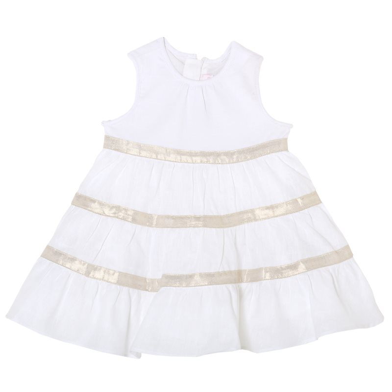 Фото - Dress Chicco, size 068, color White shoes velcro genuine leather chicco size 200 color white